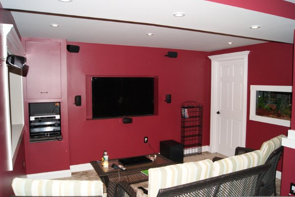My small bat tv/theatre room pic. - Home Theater Forum and ... on home theatre room, home cinema, home theater, home theatre screens,