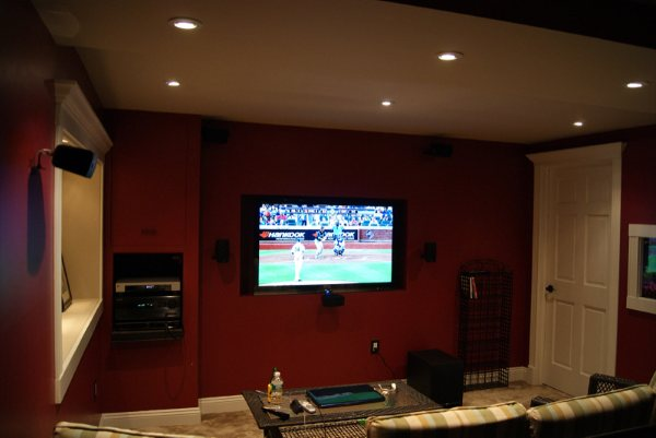 My small basement tv theatre room pic home theater for Small theater room ideas