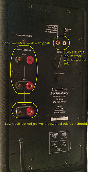 definitive technology bp tower is this an amp or crossover issue definitive technology bp tower is this an amp or crossover issue back