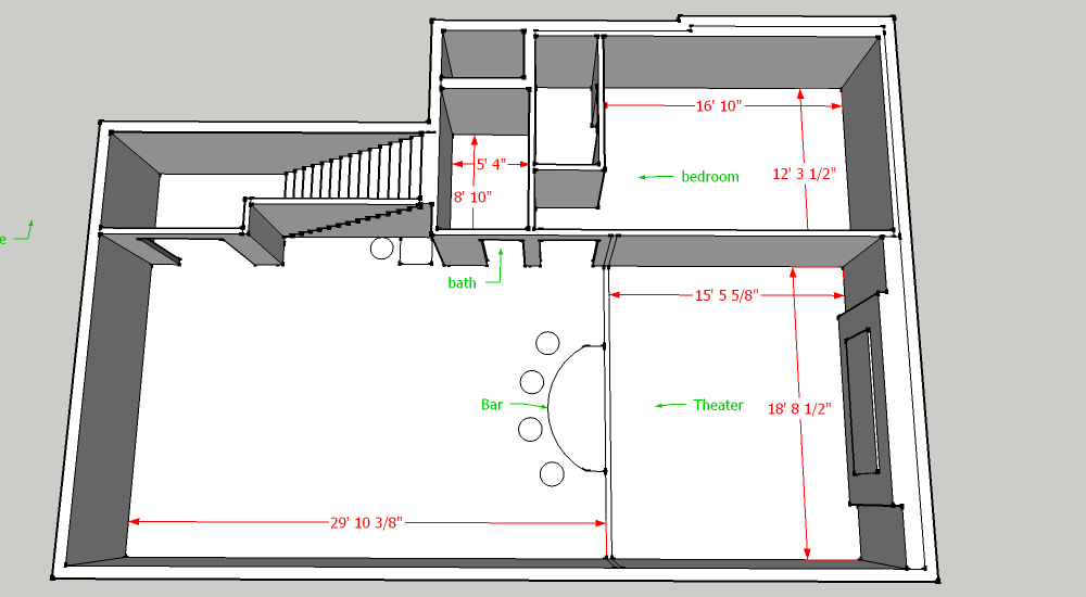 Basement layout options home theater forum and systems - Home theatre planning and design guide ...