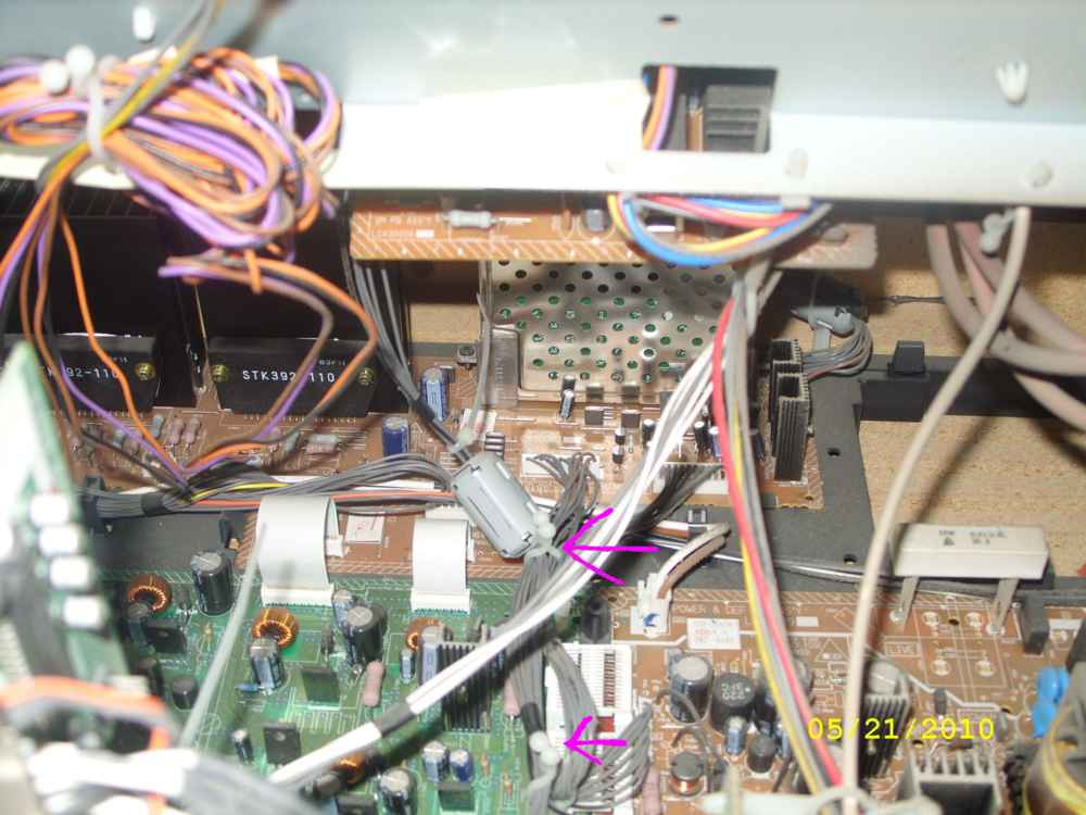 Steve's AV56WP74 Convergence Repair - with Pics-cable-3-wire-ties-small.jpg