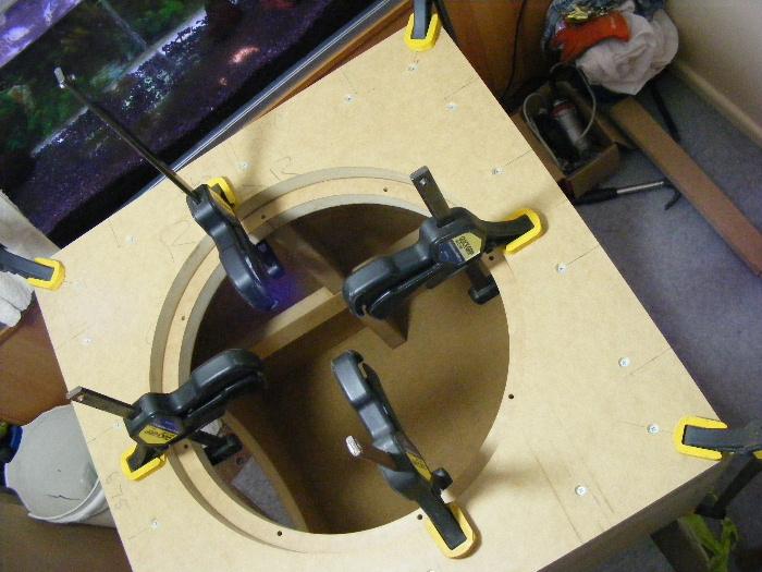Maelstrom-X + 2x PR18 Passives Build.....-clamping-down-front-baffel.jpg