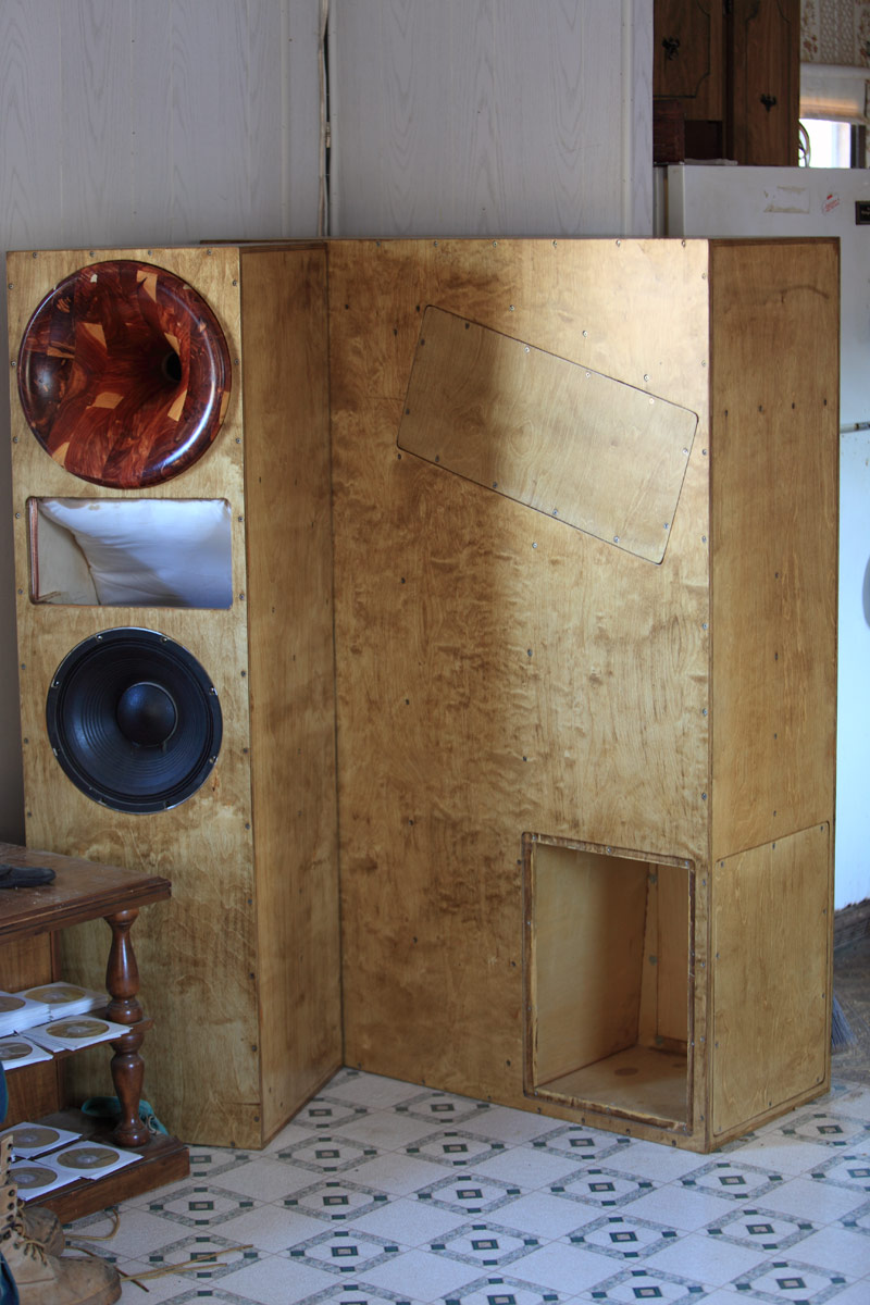 Frankenspeaker and tractrix horns - photos - Home Theater Forum and