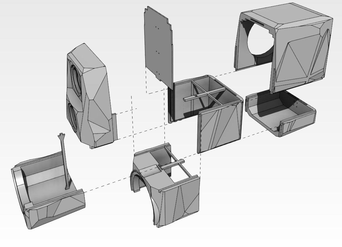 3D printing of speaker enclosures-exploded-origami-perspective.png