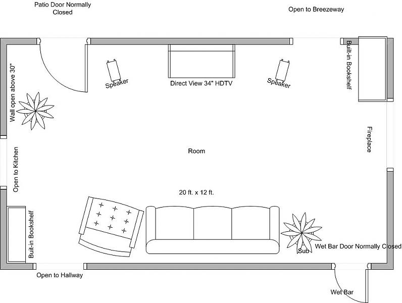 Draw room to scale home design for How to draw a room to scale