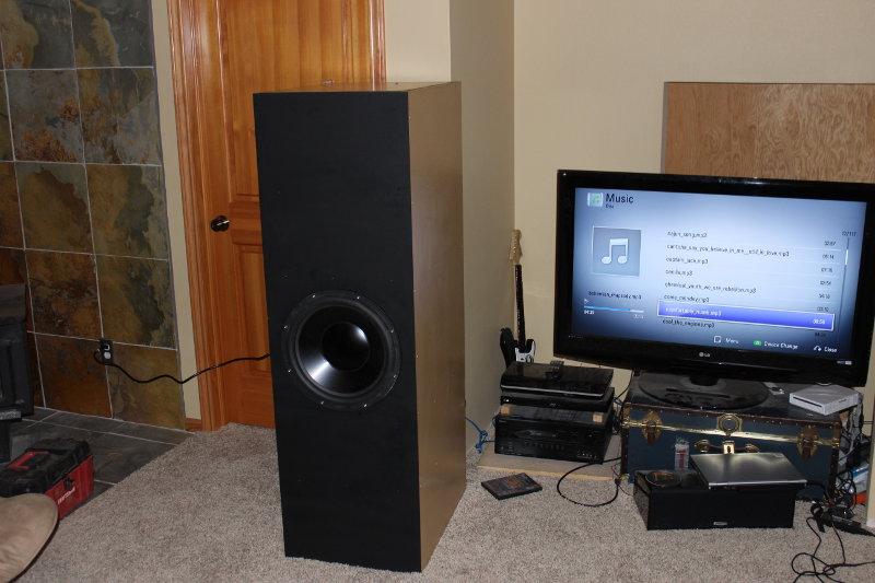 """First build - 15"""" Dayton HF-first_sound.jpg"""