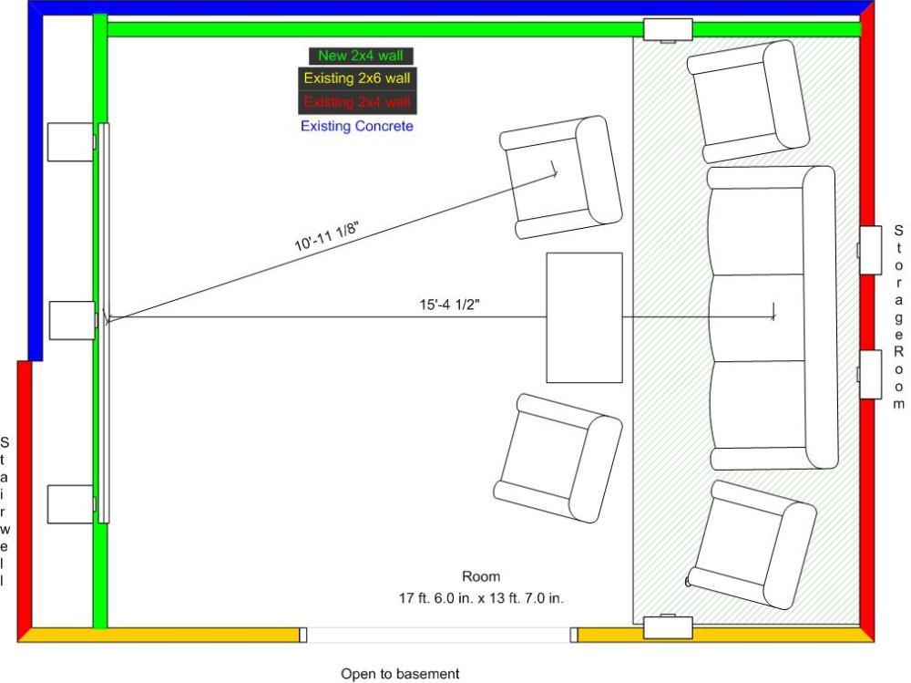theater in unfinished basement space floorplanjpg. Interior Design Ideas. Home Design Ideas