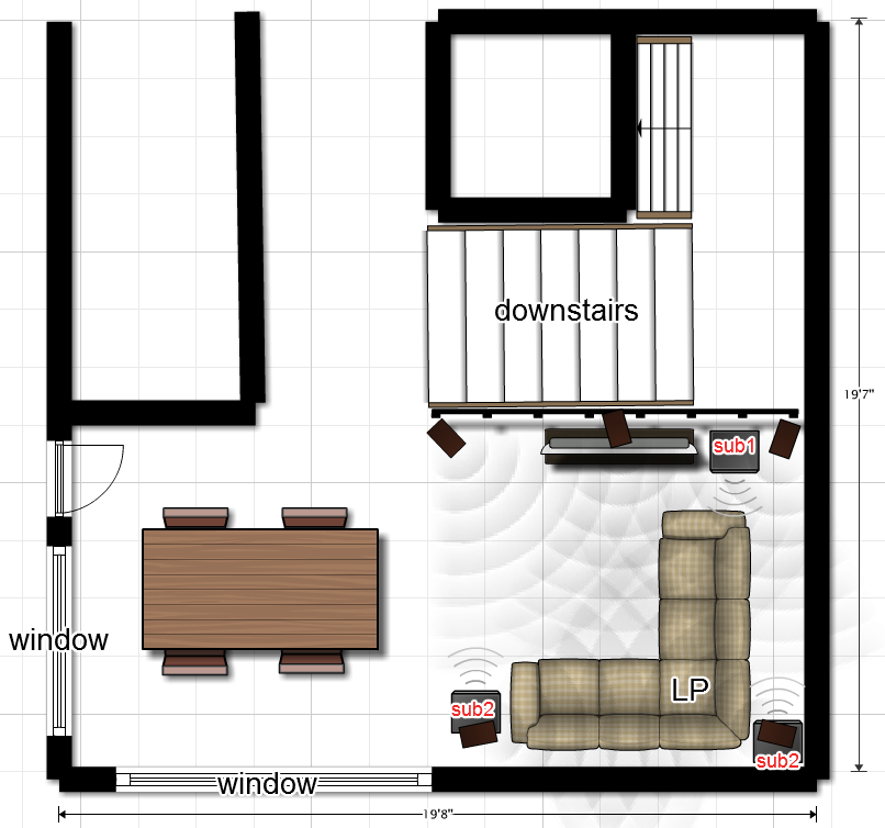 Need advice on placing two subwoofers (floorplan included)-floorplan.png