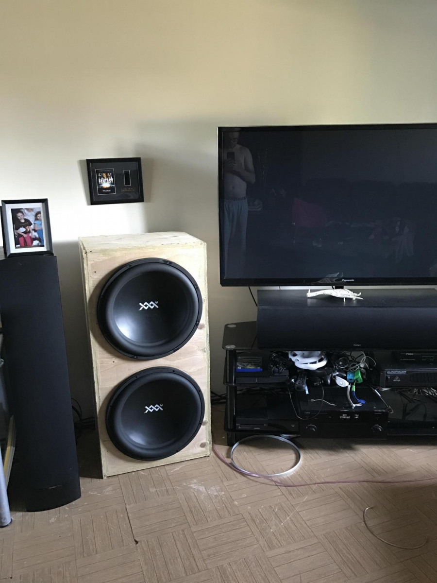 Diy Subwoofer First Build 2 18 S Home Theater Forum And