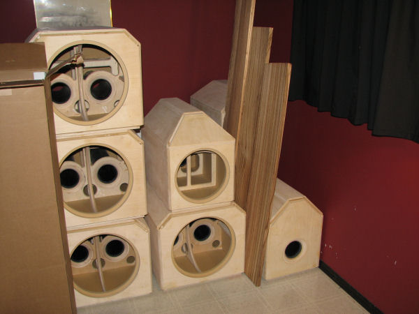 Home theater subwoofer box