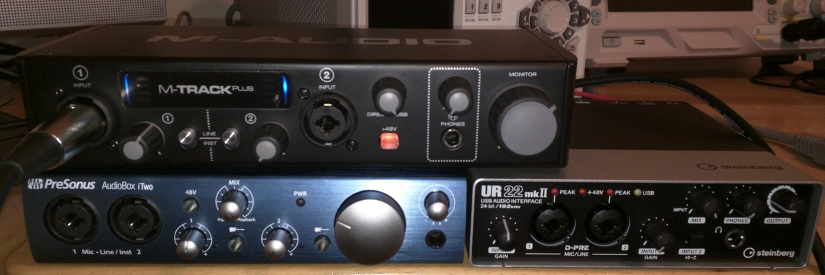 USB audio interface (sound card) comparison:  M-Audio, PreSonus and Steinberg-interfaces-tested-small.jpg
