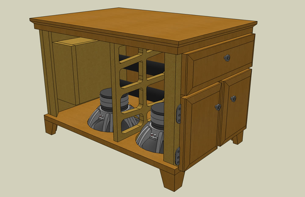 UPDATED (w/pics)  Dual RE SE-12 End table sub build...-iso_pic1.jpg