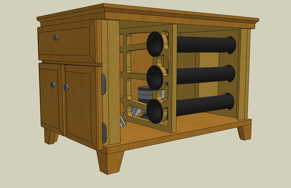 UPDATED (w/pics)  Dual RE SE-12 End table sub build...-iso_pic4.jpg