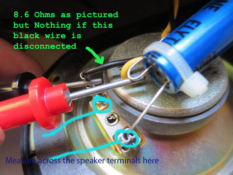 Mid Driver and Tweeter not working but Bass Driver working - how to tell if Caps are bad and what needs to be replaced-onewire.jpg
