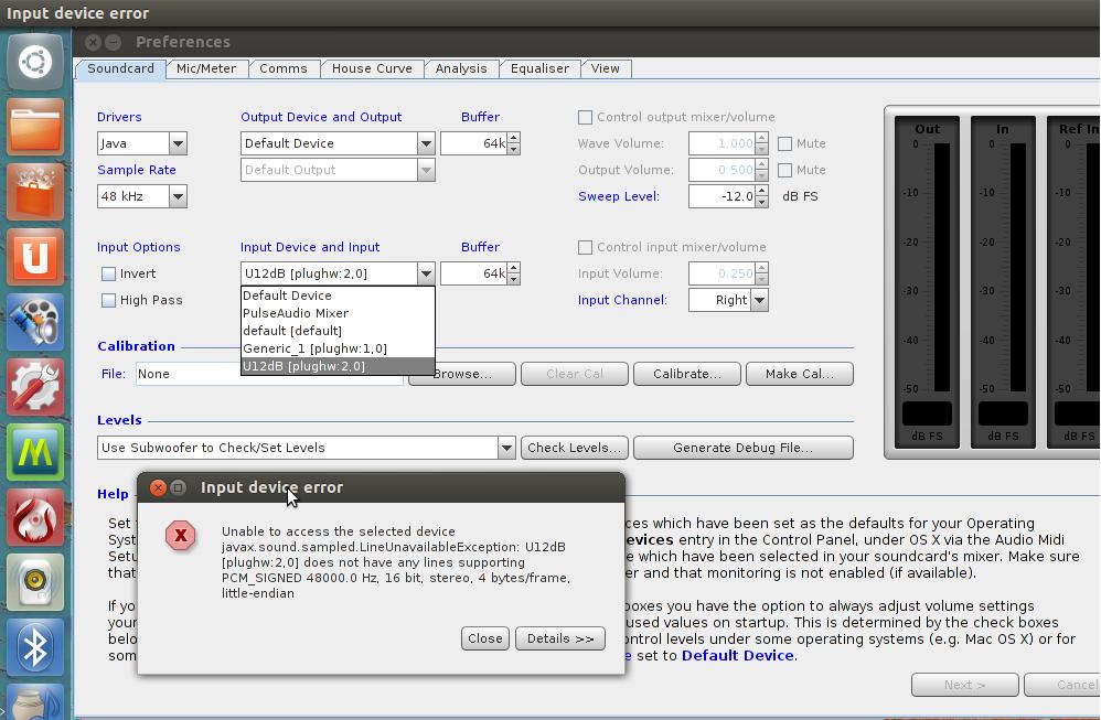UMIK - linux/Java install-original_error.png