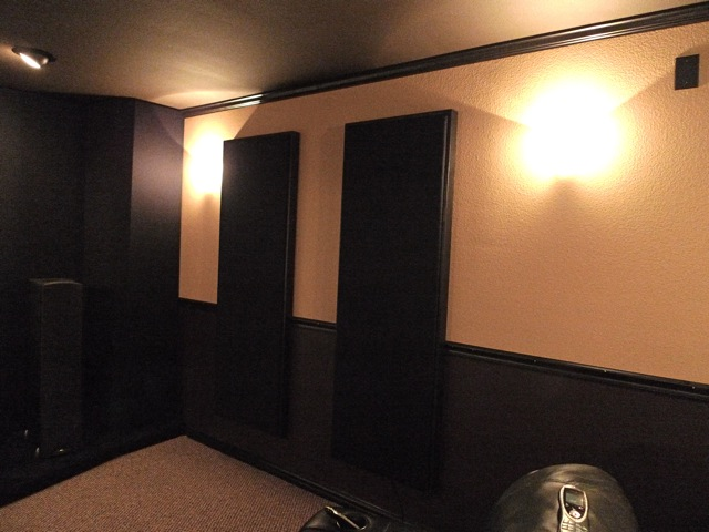 home theater acoustic panels. as a bonus this methos leaves 1\ home theater acoustic panels