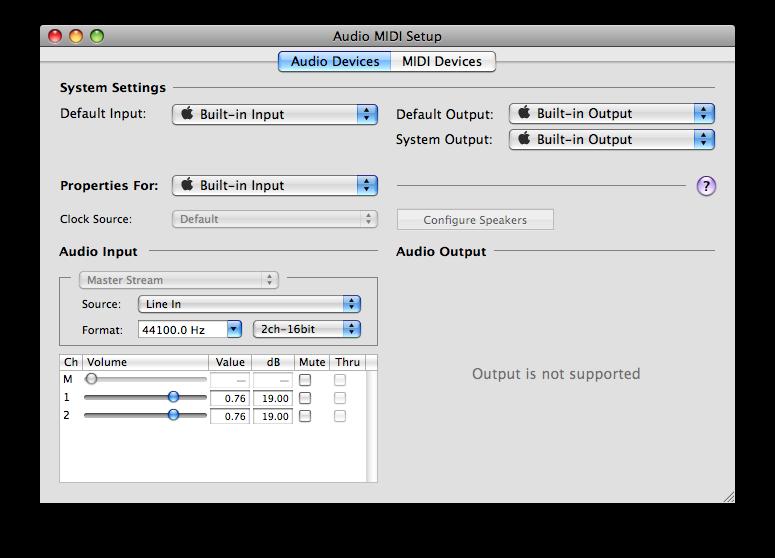 REW Primer for Apple MacBook Pro using the internal