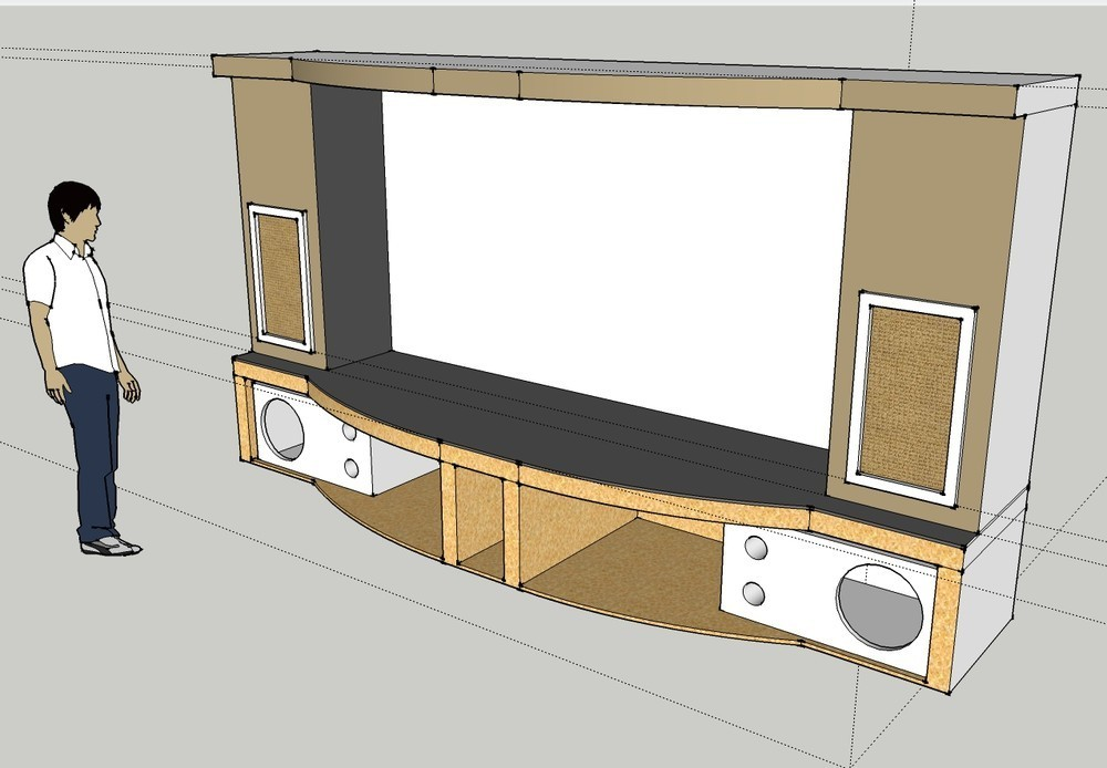 PJ Screen Stage Sub Enclosure Design Pj Screen Stage Open .