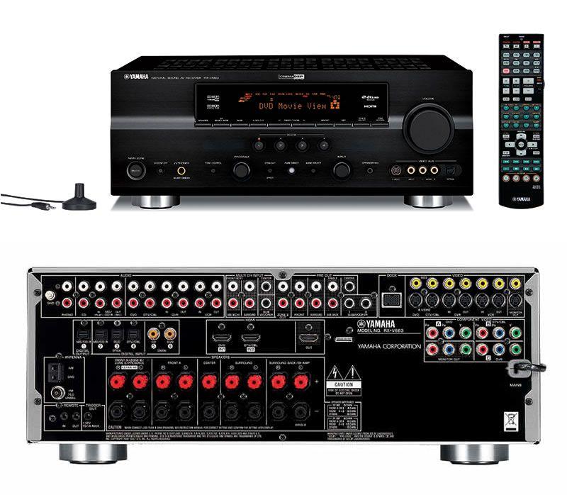 sold yamaha rx v663 home theater receiver home theater forum and rh hometheatershack com Yamaha AV Receiver RX-V663 Yamaha RV 663 Manual