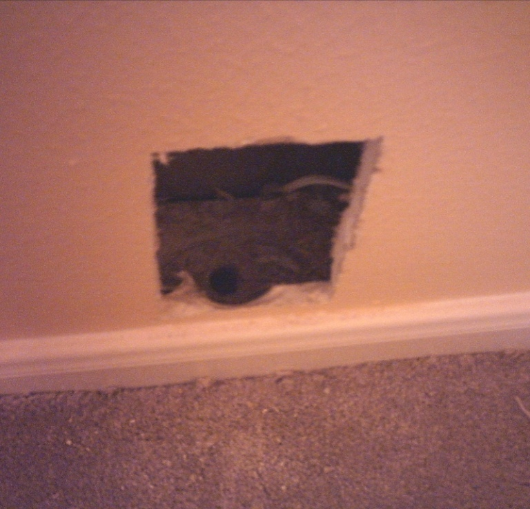 how to in wall wiring for your home theater home theater forum how to in wall wiring for your home theater showing hole