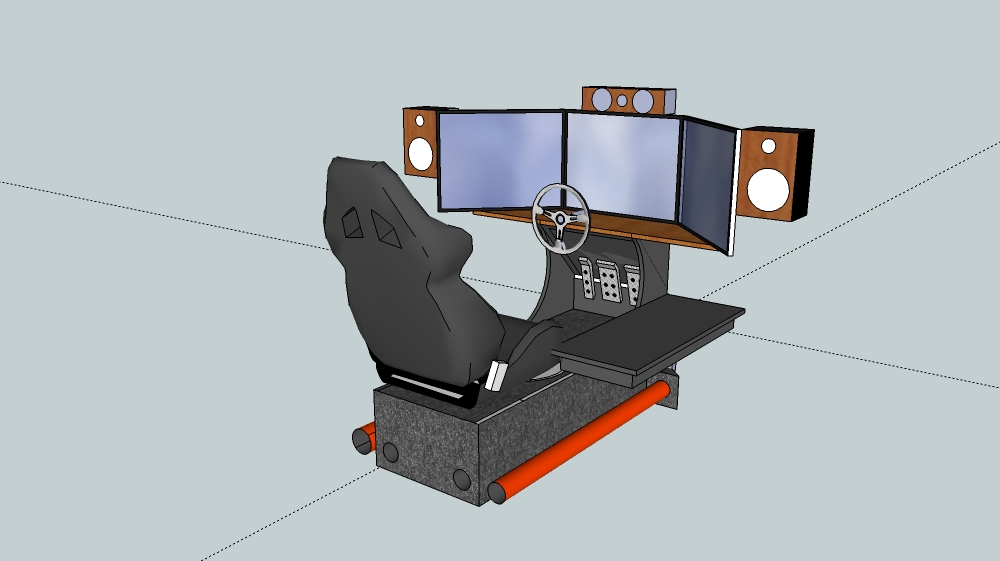 Home Made Sim Racing Cockpit