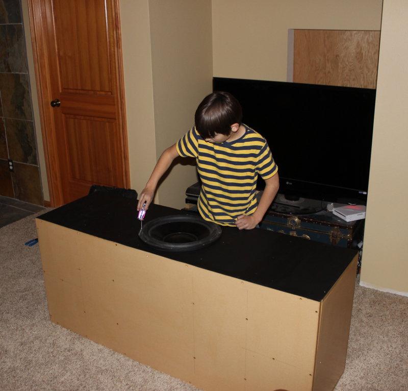"First build - 15"" Dayton HF-speaker_install.jpg"