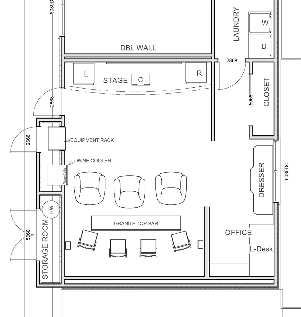 Home Floor Plans With Basement as well Home Theater Design Floor Plan ...