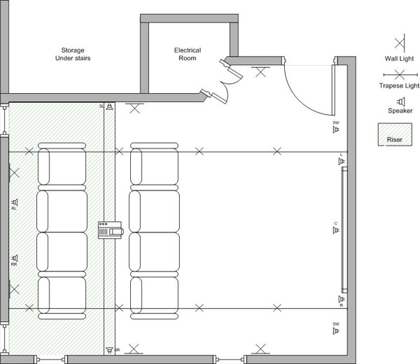 Home Floor Plans With Basement As Well Home Theater Design . Part 79