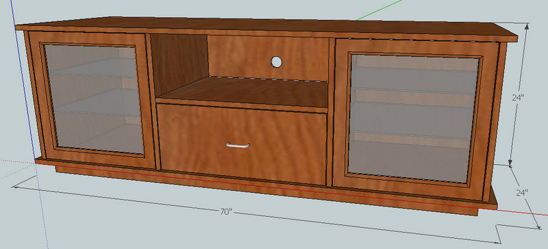 plans to build a tv cabinet
