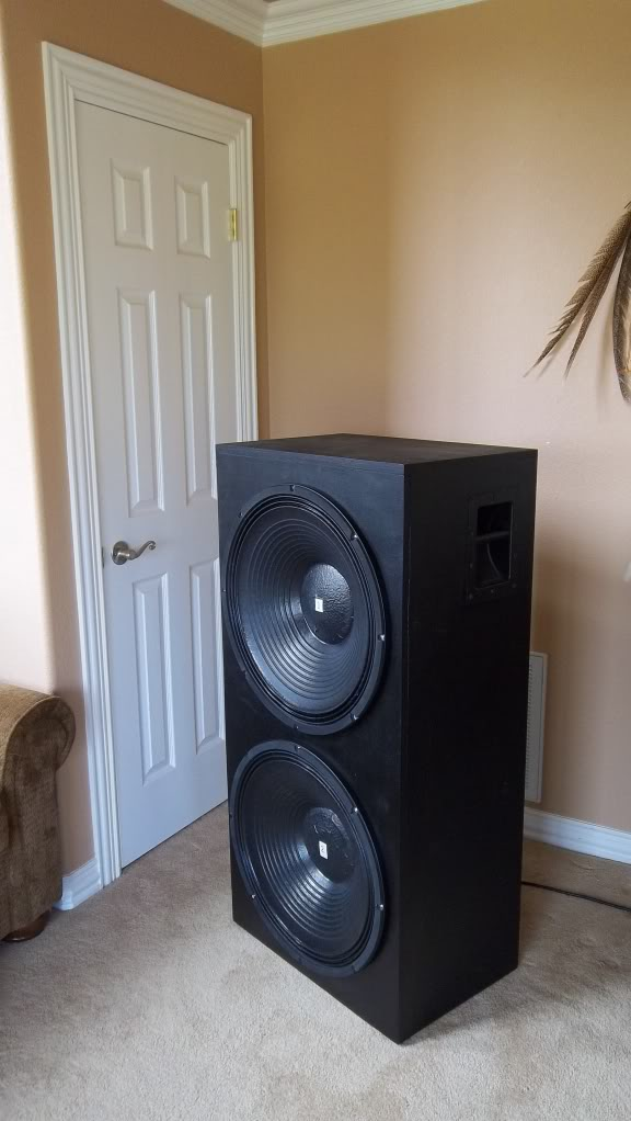"The 18SW115 is history...lets see what a 21"" can do!-zzz-rcf-finished-cabinet-48x24x16-2012may1dualrcfsubwoofer011.jpg"