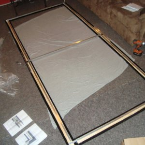 Various pictures of the screen construction