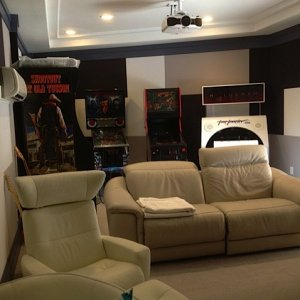 Newly completed theater/game room