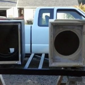 JL12W7 /2 JL12W3V3  PAINTED BOXES SET UP /NO GRILLES